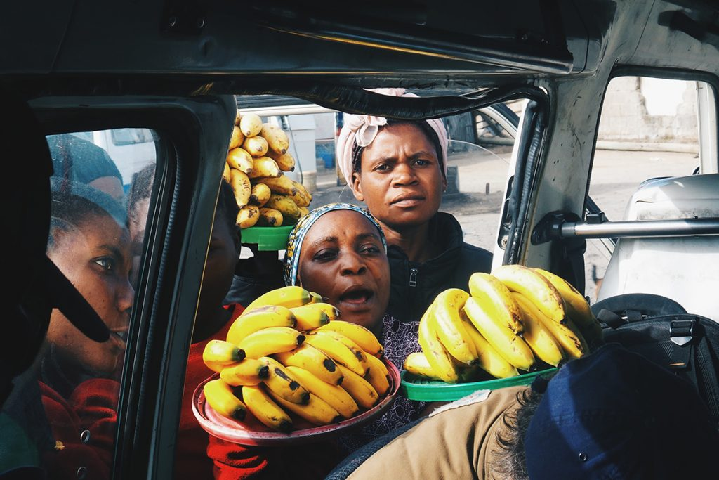 Photo of women selling bananas in Africa